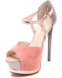 Boutique 9 Nerissa Open Toe Pumps - Pink