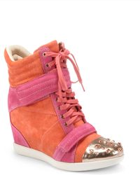 Boutique 9 - Nevan Colorblock Hightop Wedge Sneakers - Lyst