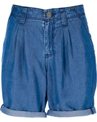 Burberry Turn Up Shorts - Blue