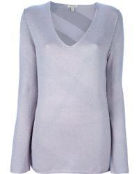 Burberry Brit - Vneck Sweater - Lyst