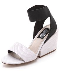 Cheap Monday - Stomp Embossed Sandals - Lyst