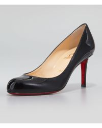 Christian Louboutin Simple Patent Red Sole Pump Black - Lyst