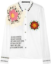 Creatures of the Wind Swarovski Crystalembellished Embroidered Cotton Shirt - Lyst