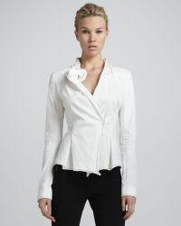 Donna Karan New York Sculptedlapel Jacket Zinc - Lyst