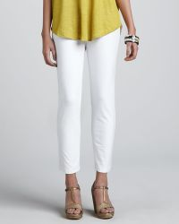 Eileen Fisher Slim Stretch Crepe Ankle Pants - Lyst