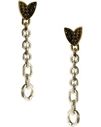 Giles & Brother Nara Chain Earrings with Pave - Black
