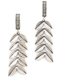 Giles & Brother - Victory Chain Earrings - Lyst