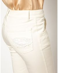 Girl by Band of Outsiders - Boyfriend Jeans with Lace Inserts - Lyst