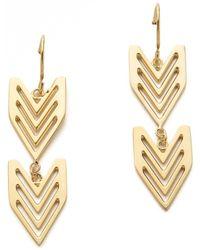 Gorjana - Chevron Tribal Earrings - Lyst