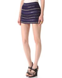 Gryphon - Textured Stripe Miniskirt - Lyst