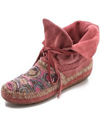 House of Harlow 1960   Mallory Moccasin Booties   Lyst
