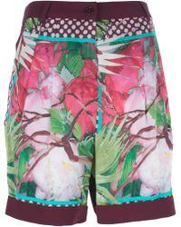 I'm Isola Marras - Printed Highwaist Shorts - Lyst