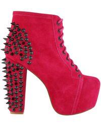 Jeffrey Campbell Womens Lita Spike Boots - Pink