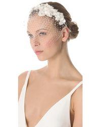 Jenny Packham May Veil Headdress I - Natural