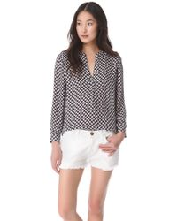 Joie Peterson B Silk Blouse - Lyst