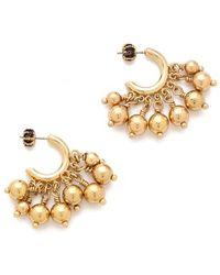 Juicy Couture Bauble Small Hoop Earrings - Metallic