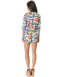 Juicy Couture | Maui Floral Romper | Lyst