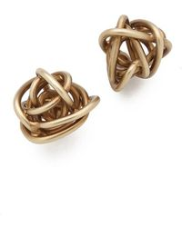 Kelly Wearstler - Brass Knot Earrings - Lyst