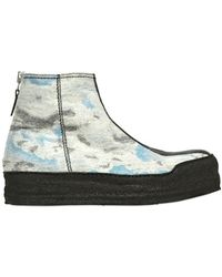 KENZO Day Cloud Boiled Wool Boots - Blue