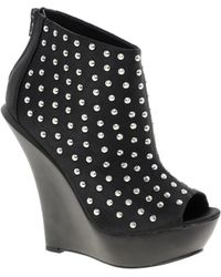 KG by Kurt Geiger - Kg By Kurt Geiger Amy Studded Wedge Boot - Lyst