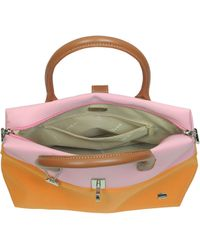 La Bagagerie - Shop X2 Pink and Orange Fabric Tote - Lyst