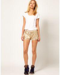 La Fee Verte Sequin Shorts - Lyst