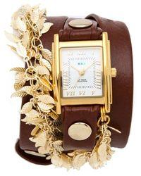 La Mer Collections - Multi Leaf Charm Watch - Lyst