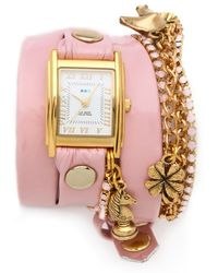 La Mer Collections - Crystal Ballerina Charm Watch - Lyst