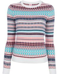 Lacoste L!ive Patterned Crew Neck Sweater - Multicolor