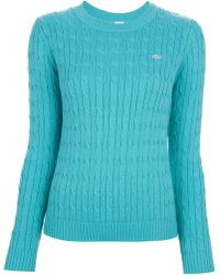 Lacoste L!ive Cable Knit Sweater - Blue