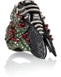 Lydia Courteille - Bestiary 18karat Blackened White Gold Multistone Ring - Lyst