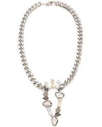 Made Her Think - Inverted Teardrop Necklace - Lyst