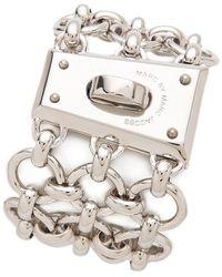 Marc By Marc Jacobs - Mega Mesh Faceted Lock Bracelet - Lyst