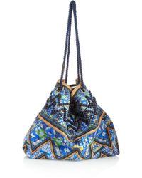 Matthew Williamson Printed Cottoncanvas Shoulder Bag - Blue