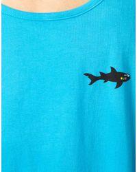 Maui & Sons Maui and Sons Vest Cookie Back Print Logo - Blue