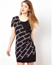 Olivia Rubin - Silk Bodice Dress with Aysemetric Overlay - Lyst