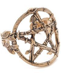 Pamela Love Snake Pentagram Cuff - Metallic