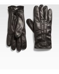 Prada Nappa Leather Gloves - Lyst