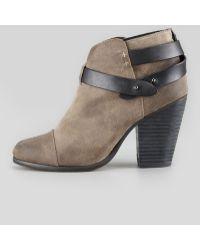 Rag & Bone Harrow Waxed Suede Ankle Boot Clay - Lyst