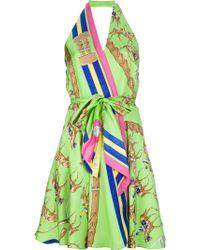 Ralph Lauren Blue Label - Silk Printed Dress - Lyst