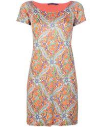 Ralph Lauren Blue Label - Paisley Print Dress - Lyst