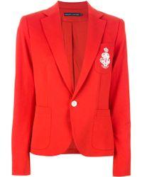 Ralph Lauren Blue Label - Logo Crest Blazer - Lyst