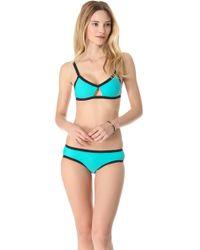 Shakuhachi Ultra Neon Cutout Bikini - Blue