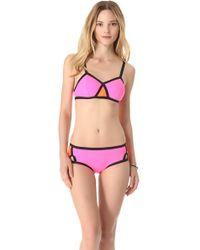 Shakuhachi Ultra Neon Color-Block Bikini - Pink