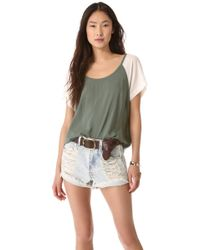 Splendid Oversized Tee Top - Lyst