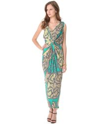 T-bags - Ruched Maxi Dress - Lyst