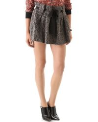 Thakoon Addition - Boiled Tweed Belted Ruffle Mini Skirt - Lyst