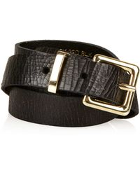 Topshop Cracked Clean Western Belt - Lyst