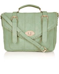Topshop Cutwork Trim Satchel - Lyst