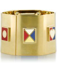 Tory Burch - Ahoy Flag Stretch Bracelet - Lyst